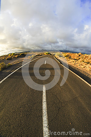 Long Empty Desert Road