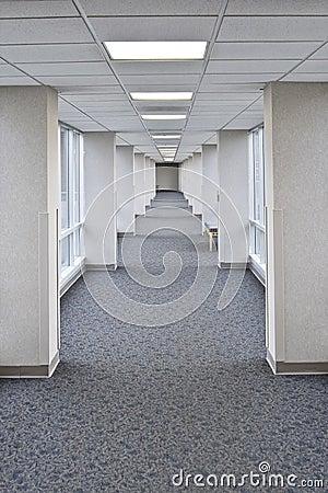 Long empty hall