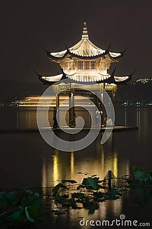 Free Long Exposure Image Of Xihu Lake At Night Stock Image - 20974561