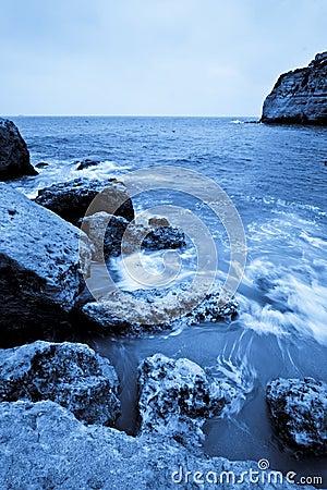 Long exposure in rocks