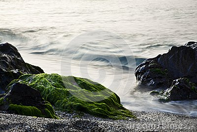 Long exposure on shore