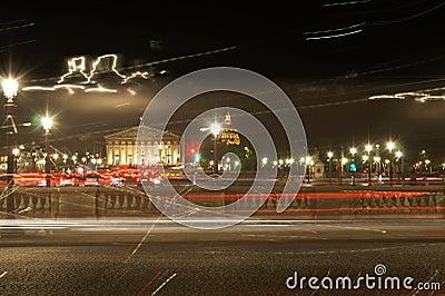 Long Exposure Shot of the Famous Parisian Lights