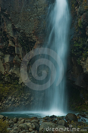 Long exposure of a waterfall in New Zealand