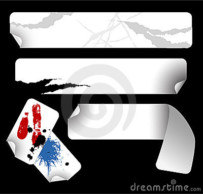 Long And Grungy Labels Royalty Free Stock Image - Image: 6416116