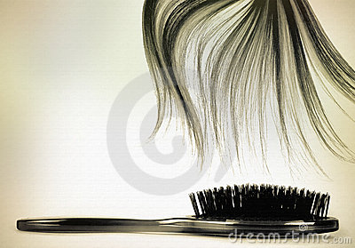 Long hair brush vintage
