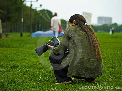 Long Hair Female Pro Photographer