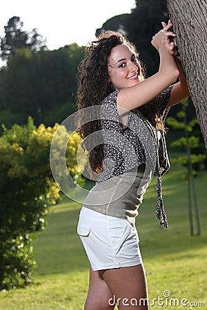 Long hair harmless and seductive teenager
