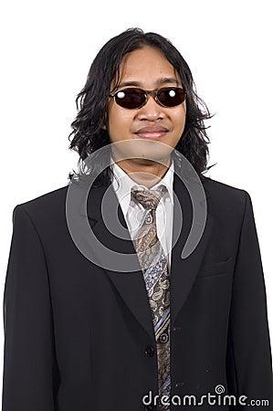Long Hair Man Wearing Suit