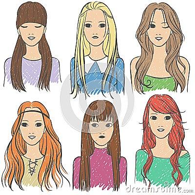 Long-haired girls