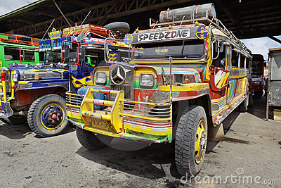 Long haul bus Mindanao Philippines Editorial Image