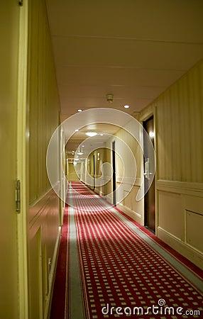 Long Hotel corridor
