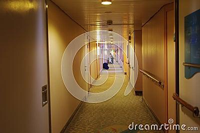 Hotel corridor Editorial Stock Image