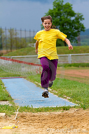 Free Long Jump Royalty Free Stock Photo - 20071755