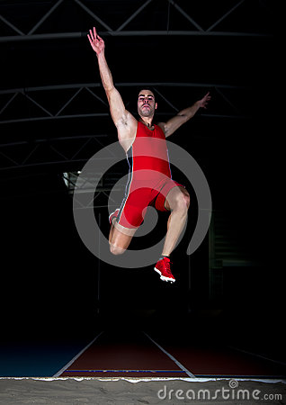 Free Long Jump Athlete Royalty Free Stock Photography - 37649587