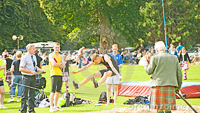 Long jump competition. Editorial Photo