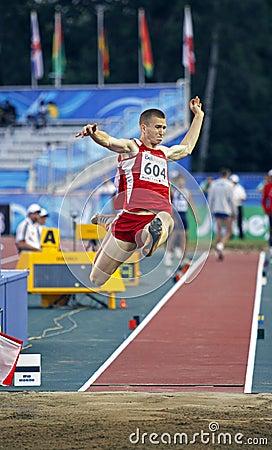 Long jump latvia Editorial Photography
