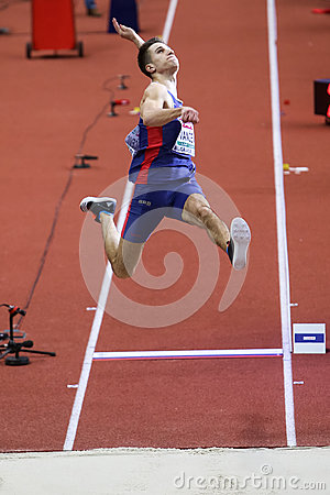 Free Long Jump Man STRAHINJA JOVANCEVIC Stock Images - 88237774