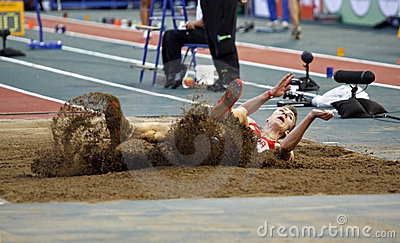 Long jump russia Editorial Photo