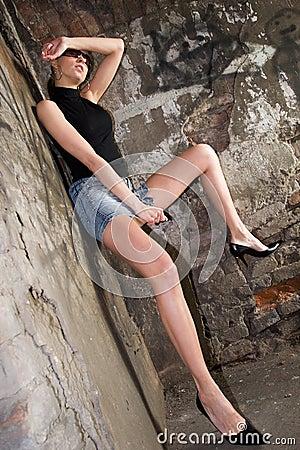 Long Legs In Short Skirt Royalty Free Stock Images - Image: 2641489