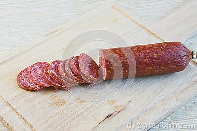 Long loaf the smoked sausage
