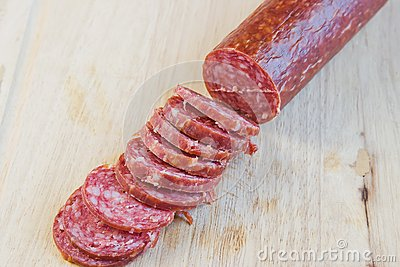 Long loaf the smoked sausage