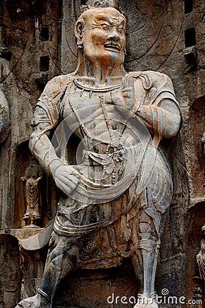 Long men Buddhist statuary
