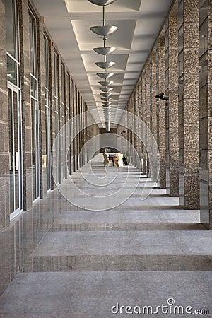 Long narrow corridor