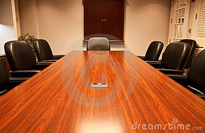 Long Polished Conference Table