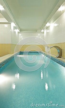 The long pool in sauna