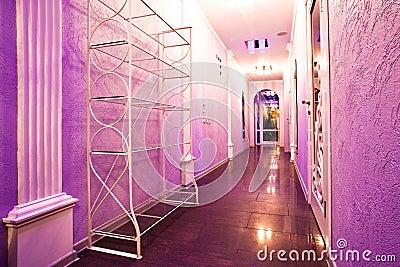 Long purple corridor