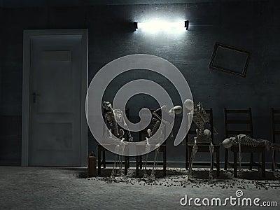 Long queue to door