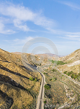 Free Long Railroad Track In Desert Royalty Free Stock Photo - 91148665