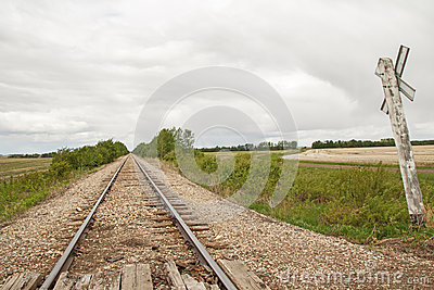 Long railway track