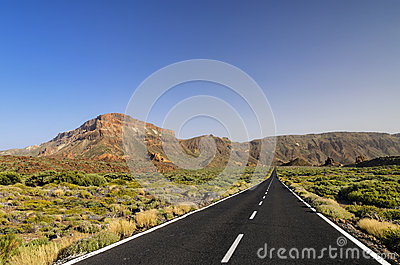 Long road ahead Stock Photo