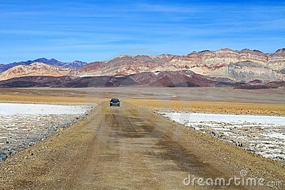 USA, California: Death Valley - Long Road