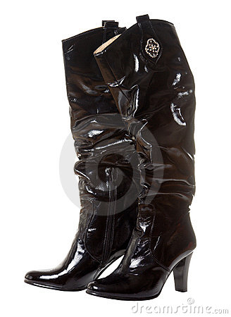 Long shine boot for women