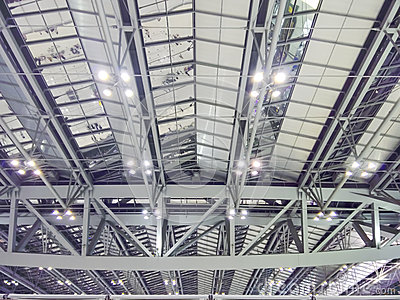 Long Span Roof Structure Stock Photo Image 52360012