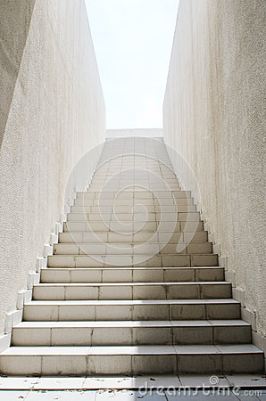 Long stairs with  steps