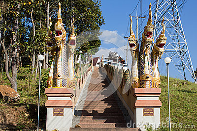 Long stairs to temple
