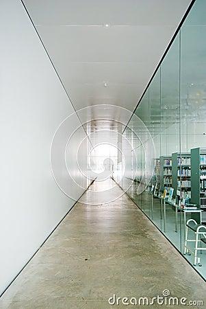 Long straight corridor