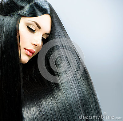 Free Long Straight Hair Royalty Free Stock Photo - 30693065