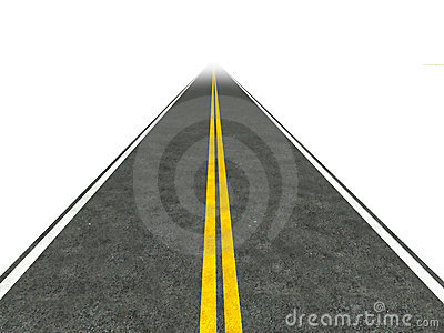 Long, straight road illustration.
