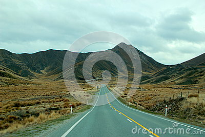 Long Straight Road Into Mountain