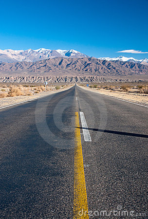Long straight road in northern Argentina