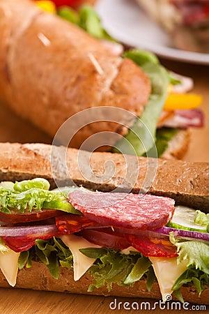 Free Long Sub Sandwiches Royalty Free Stock Photos - 10782938