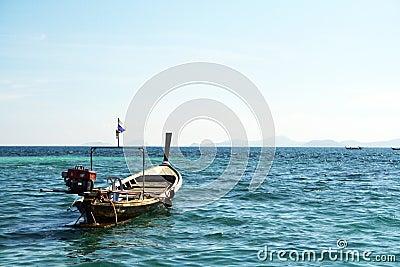 Long tail boat in andaman sea