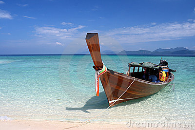 Long tail boat on the Andaman Sea