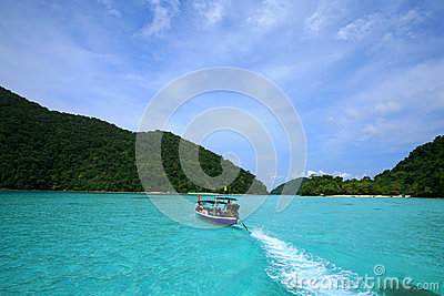 long tail boat are going to Surin islands Editorial Photography