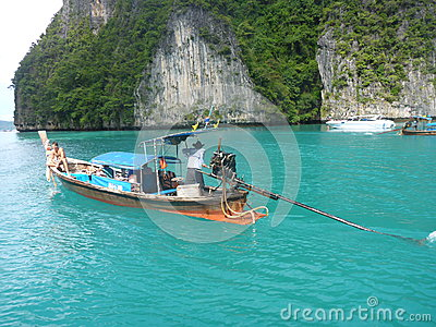 Long-tail boat Editorial Stock Image
