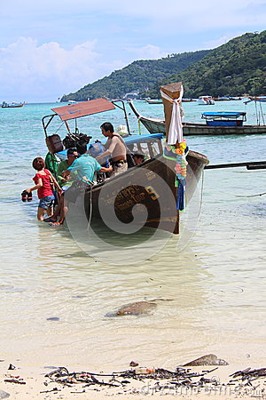 Long-tail boat Editorial Photo